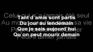 Garou - Seul lyrics on screen!