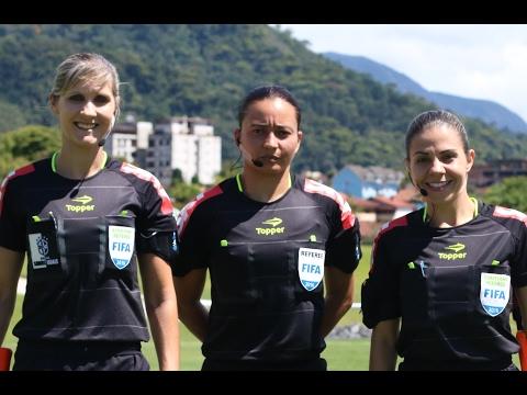 Árbitras participam de treino intensivo na Granja - Edna Alves de Goioerê esta entre as três selecionadas