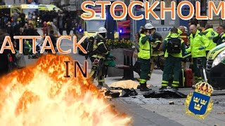 Stockholm attack LIVE video from Sweden