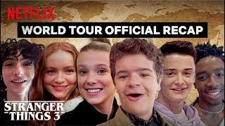 Stranger Things 3 Cast World Tour - Best Moments   Netflix