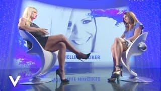 Michelle Hunziker and Silvia Toffanin's legs