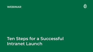 Ten Steps for a Successful Intranet Launch Logo