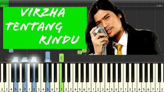 Tentang Rindu - Virzha Piano Cover Tutorial