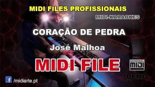 ♬ Midi file  - CORAÇÃO DE PEDRA - José Malhoa