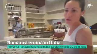 O româncă, angajată la un bar din Italia, a salvat de la moarte un fost carabinier
