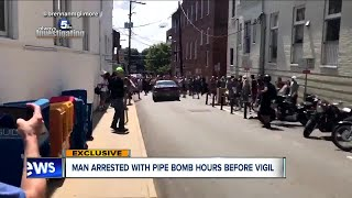 Man with pipe bomb arrested hours before Akron vigil for Charlottesville victims