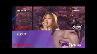 I.O.I VS I.O.I unit - When The Cherry Blossom Fades (Live)