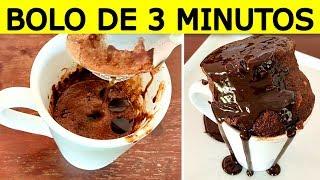 BOLO DE CANECA NO MICROONDAS/ FEITO EM 3 MINUTOS