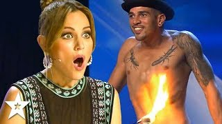 Contestant Sets Himself On FIRE On Spain's Got Talent! | Got Talent Global