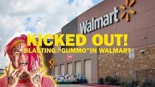 "6IX9INE ""KEKE"" & ""GUMMO"" SPEAKER PRANK IN WALMART (KICKED OUT)"