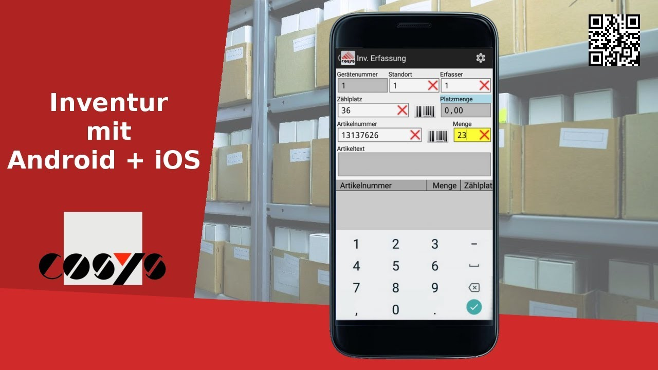 Inventur einfach mit dem Smartphone machen - COSYS Cloud Inventur App für Android und iOS