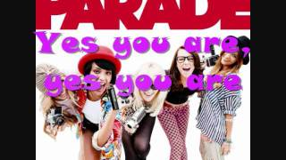 Yes You Are - Parade (with lyrics)