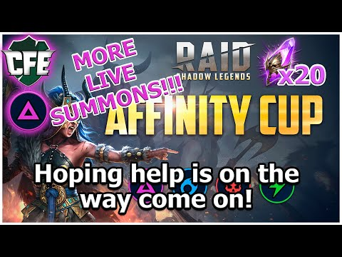 RAID Shadow Legends | MORE Affinity Cup Summons | Live Reactions! ft HellHades, JGigs, SaffronMan