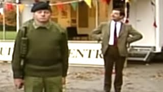Mr Bean - Giving order to army cadets