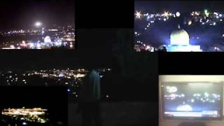 *NEW* Jerusalem UFO - Four views of Dome of the Rock Temple Mount 02/02/11