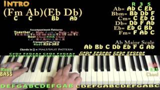 Hello (Adele) Piano Lesson Chord Chart - Jam in Ab Major (Fm Ab Eb Db)