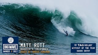 Matt Rott at Maverick's  - 2017 TAG Heuer Wipeout of the Year Entry - WSL Big Wave Awards