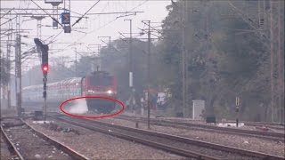 Indian Railways    Freaky Accident.. Train Crushes Cycle and the Loco Pilot applies Emergency Brakes