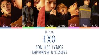 EXO For Life Lyrics [Colour coded|HAN/ROM/ENG]