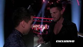 EXCLUSIVO - Mickael Carreira fala com Fernando Daniel nos bastidores - The Voice Portugal