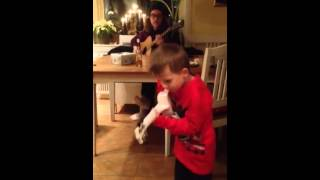 Elvis Brodin dances like Elvis Presley