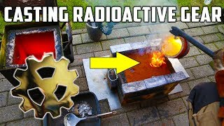 Casting Brass Radioactive Gear - Inspired by The King Of Random ! width=
