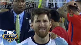 Six-year old isn't taking Messi's Int'l retirement well