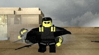 Lego The Matrix Bullet Time Rooftop Sequence
