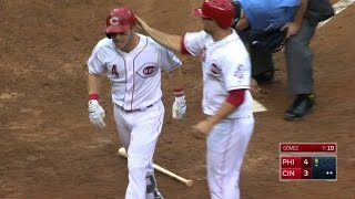 PHI@CIN: Gennett goes deep to put the Reds within one