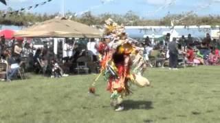 Native American Fancy Dancing at the Yankton Sioux Rez Pow Wow