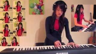 Space Junk Galaxy (Super Mario Galaxy) Piano, Vocal Cover | Michelle Heafy