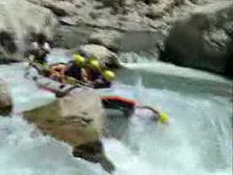 Action rafting video