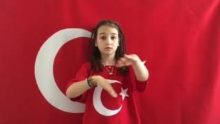 İşaret dille İstiklal marşı