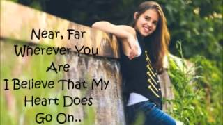 Carly Rose Sonenclar   My Heart Will Go On   Lyrics On Screen   Live On The X Factor USA   HD