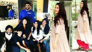 Janhavi Kapoor Raksha Bandhan with Arjun Kapoor and Family 2018