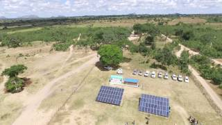 Sinda Village Solar MicroGrid - Aerial View