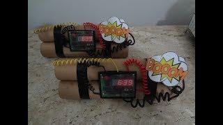 DIY  Bomba Relógio - Festa Super Heróis - Decoração de Aniversário