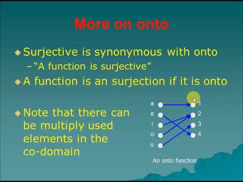 Download thumbnail for Second Lecture   Types of Function
