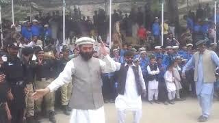 Minister local gov't Gilgit Baltistan Farman Ali Rana dance on 14 Aug 2017 at astore