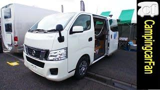 【インディ1027】スライド式上段ベッドでファミリーも使えるNV350キャラバン標準ボディバンコン [ Indy1027 ] NV350 base Japanese campervan