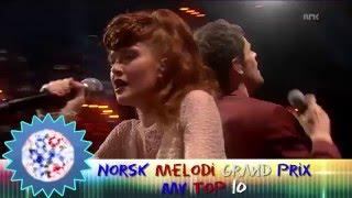 Norsk Melodi Grand Prix 2016 ~ My Top 10