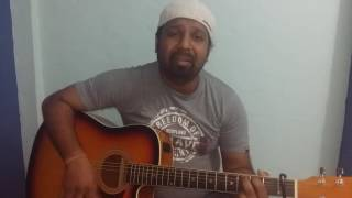Tera mujhse hai pehle ka nata koi_ Guitar cover by dilip nirmal