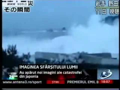 Tsunami and Earthquake in Japan—dramatic Huge Wave video