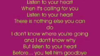 Listen To Your Heart   Cascada with lyrics    YouTube