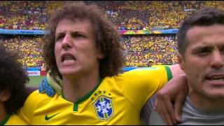 Brazil National Anthem World Cup 2014 vs Mexico Full HD