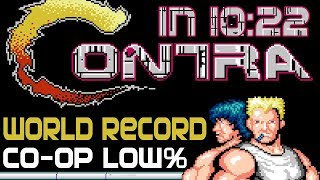 [World Record] Contra Low% in 10:22 (Co-op)
