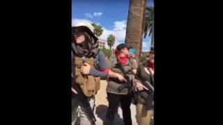 Heavily Armed Antifa March at Phoenix, Arizona