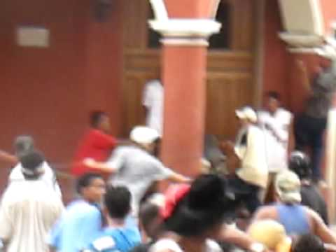 Running of the bulls – The main square, Granada Nicaragua, and a bull gets loose!