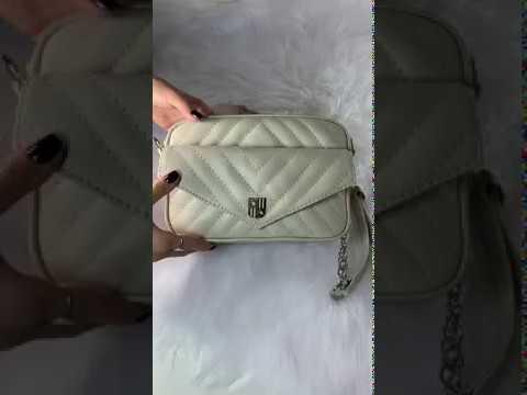 BOLSA MADRID P Bolsa pequena a tiracolo couro legítimo branca / off-white