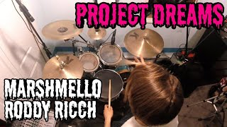 Marshmello x Roddy Ricch - Project Dreams (Drum Cover & Lyrics)